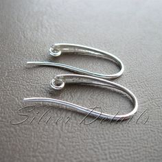 Elegant Sterling Silver French Wire Earring Hooks von SilverDetails