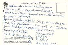 Backside of Antigua qsl answer Nice Word West-Indies