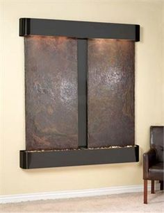 The Cottonwood Falls Wall Fountain with Rajah Natural Slate in Blackened Copper is one of many color combinations available with this wall fountain by Adagio. Fill your atmosphere with serene sound of smoothly flowing water that truly relaxes the mind. The fountain offers the superior water distribution system that allows the water to flow smoothly. To beautify the fountain it also includes pebbles, solids slates and marbles. Made from high quality materials, it is highly durable piece for…
