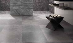 Stunning chic grey porcelain tiles designed to give the look and finish of natural European limestone.  #grey #porcelain #tiles