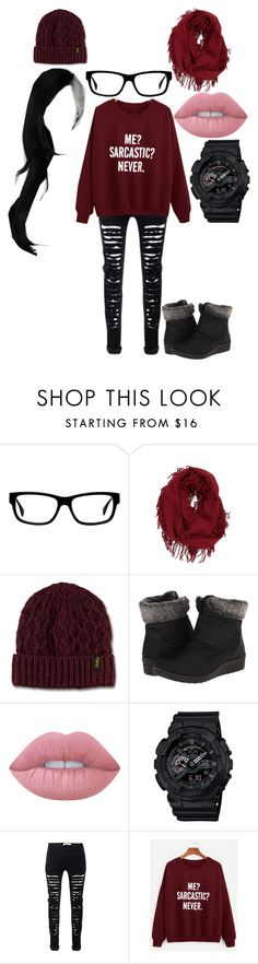 """""""Hipster"""" by kyouya on Polyvore featuring BP., Dr. Martens, Patrizia, Lime Crime and G-Shock"""