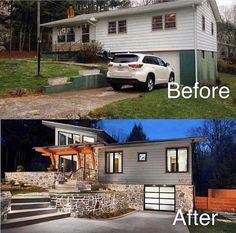 Trendy Home Inspiration Exterior Curb Appeal Exterior Renovation Before And After, Home Renovation, Home Remodeling, Home Exterior Makeover, Exterior Remodel, Style At Home, Fixer Upper, House Makeovers, House Front
