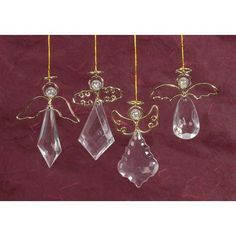 Bulk Buy: Darice DIY Crafts Ornaments Clear Angel, Gold Wings/Halo 3 in 2 piecesMake unique Christmas tree ornaments, or ornaments for any special occasion. Unique Christmas ornaments add the right touch. Christmas Tree Ornaments To Make, Wire Ornaments, Angel Ornaments, Christmas Jewelry, Christmas Angels, Christmas Crafts, Wire Crafts, Bead Crafts, Beaded Angels