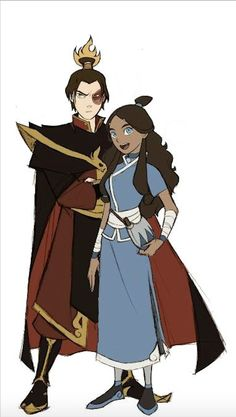 Prince Zuko the Fire Lord and Katara from Avatar The Last Airbender Avatar Aang, Avatar Airbender, Katara Y Zuko, Suki Avatar, Avatar Funny, Team Avatar, Avatar Cosplay, Prince Zuko, The Last Avatar