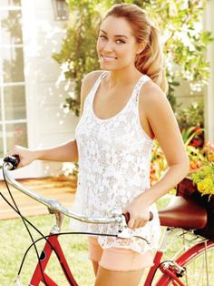 White lace tank with cute shorts