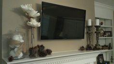 Winter mantle decor