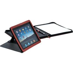 Imprint your logo or message on Canadian pedova ipad stand padfolio; ideal trade show giveaways and corporate gifts. Ipad Air Stand, Trade Show Giveaways, Fifth Business, Ipad Tablet, Corporate Gifts, Business Cards, Usb, Writing, Stylus