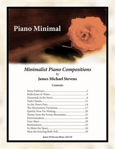 Piano Minimal By James Michael Stevens Philip Glass, Digital Sheet Music, This Is A Book, Water Reflections, Piano Sheet Music, Recital, New Age, Minimalism, Composition