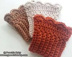Crochet Boot Cuffs/Legwarmers - Choose from Several Colors - One Pair