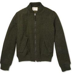 Aspesi - Harris Tweed Bomber Jacket