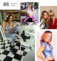 90s Fashion Moments - Shiny Metallic Prints - perhaps because we all loved sci-fi aliens and shiny flying saucers?