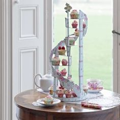 Spiral Cupcake Stand for wedding cupcakes and other afternoon tea celebrations