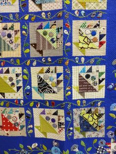Basket quilt with applique. 2015 Tokyo International Great Quilt Festival.  Photo by Susan Briscoe.