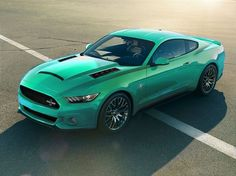 Mint Green 2015Mustang. I Would Totally Get It In This Color.