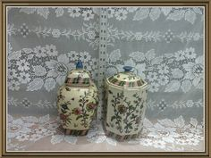 Ginger Jar  Canister Set  Asian Canisters by CrystalLightDesigns