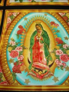Cool fabrics of the virgin mother Mary of Guadalupe! ♥