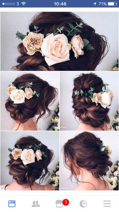 Wedding hair flowers http://coffeespoonslytherin.tumblr.com/post/157380594277/hairstyle-ideas-little-girl-hairstyles-so