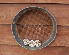 Vintage+Metal+Ash+Sifter+Galvanized+Grain+by+PineSpringsCottage
