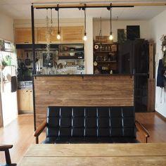 Kitchen Sets, Open Kitchen, Kitchen Storage, Japanese Bar, Room Interior, Interior Design, Modern Mountain Home, Loft, Small Apartments