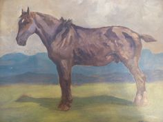 Allerley Glossop: Study of a Horse - Foxhouse Fine Art | Selected Works of Art, Ceramics & Glass, Jewellery & Pictures