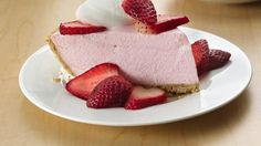 Creamy strawberry yogurt helps create this light, divine dessert that is so easy to make!