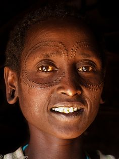 A Datoga woman. The scars mean that she is married.