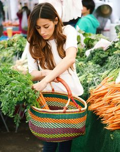 One-of-a-kind market baskets {The Little Market}