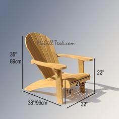 Adirondack Chair Plans | Teak Outdoor Chair – Adirondack Teak Chair with Ottoman Features