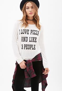 Love Pizza & People Top | FOREVER21 - 2049258770 @abbulous85