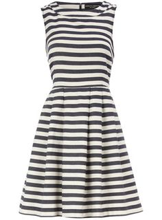 Blue stripe dress for work