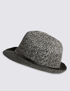 Thermo Ombre Wool Blend Trilby Hat | M&S
