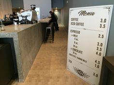 Simple espresso menu