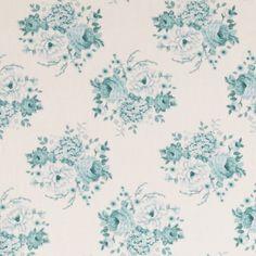 Tilda Country Escape Fat Quarter - Mia Teal - Sewing Fabric - Fabric