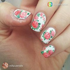 #nailstorming art by Milly @millycutenails at #scra2chfloral series. #repost on FB/IG/Twitter/G+.