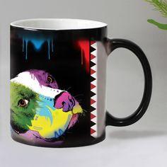 Designer Dogs Color Changing Magic Mugs Ceramic Coffee Mug Dog Design, I Love Dogs, Color Change, Dog Lovers, Magic, Tableware, Free Shipping, Facebook, Dinnerware