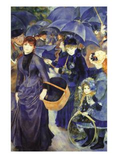 Pierre - Auguste Renoir - Umbrellas 1883 - Love how he used blue. This is a Beautiful Painting.