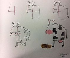 Drawing videos for kids to learn art with easy and step by step Love Drawings, Cartoon Drawings, Animal Drawings, Easy Drawings, Drawing Animals, Learn Art, Learn To Draw, Number Drawing, Drawing Videos For Kids