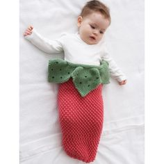 Strawberry Cocoon Baby Knitting Patterns for 0-3 Months