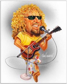 Sammy Hagar Limited Edition Celebrity Caricature by Don Howard