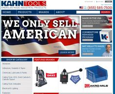 Shop Kahn Tools for up to 200,000 different types of tools all Made in America. Choose from hand tools, MRO products, adhesives, plumbing, electrical, machine tool accessories & more. #tools #madeinusa via BuyDirectUSA.com