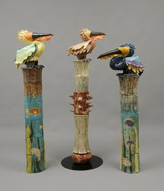 Pottery Totems | Pelican totems