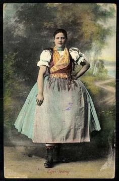 1915. Egri leány | Képcsarnok | Hungaricana Folk Costume, Costumes, Our World, Hungary, Budapest, Beautiful People, Globe, Culture, Times