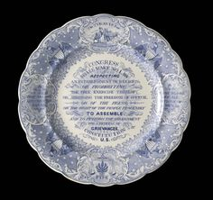 Plate, 'The Tyrant's Foe, The People's Friend' , Staffordshire ca. 1840| LACMA Collections