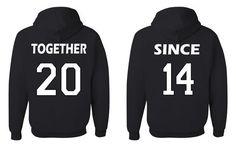 Together Since Matching Couples Sweatshirts Wedding Anniversary Gift Husband Wife Hoodies - Tee Hunt - 5