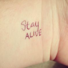 Don't forget to write 'Stay Alive' on your wrist in Honor of Haymitch! #honorhaymitch