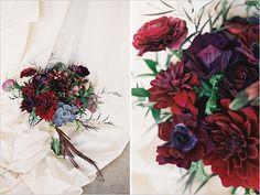 Dark Red Wedding Bouquet