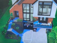Things I Need To Buy, Sims 4 Houses, Sims Cc, Floor Plans, Cabin, Mansions, House Styles, Ts4 Cc, Avengers