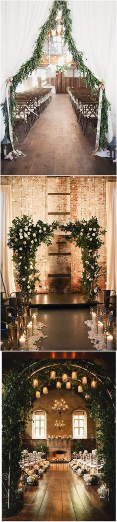 wedding aisle decoration ideas for winter