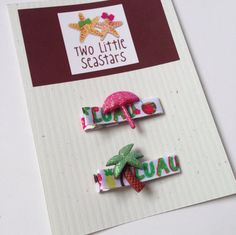Luau Palm Tree and Umbrella Summer Hair Clip Set, Infant and Girl's Accessory on Etsy, $3.00