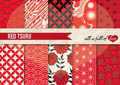 10 Japanese Background Patterns Pack by All is full of Love on Creative Market